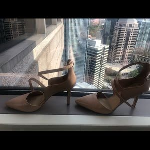 Strappy Saks Fifth Avenue nude pump